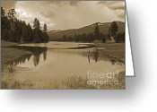 Idaho Greeting Cards - Herrick Lake - Idaho Scenery Greeting Card by Photography Moments - Sandi
