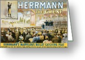 Tricks Greeting Cards - Herrmann the Great Greeting Card by Unknown