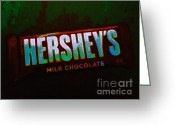 Candy Bars Greeting Cards - Hersheys Chocolate Bar Greeting Card by Wingsdomain Art and Photography