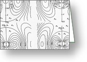 Flux Greeting Cards - Hertzs Flux Lines Greeting Card by Science Source