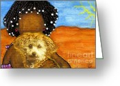Sunny Days Greeting Cards - Hes My Very Best Friend Greeting Card by Angela L Walker