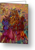Diversity Greeting Cards - Hes Worthy To Be Praised  Greeting Card by Larry Poncho Brown