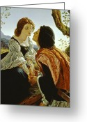 To Kiss Greeting Cards - Hesperus the Evening Star Sacred to Lovers Greeting Card by Sir Joseph Noel Paton