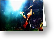 Live Art Mixed Media Greeting Cards - Hetfield of Metallica Greeting Card by Jeff Stein