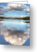 Bradford Greeting Cards - Hewenden Reservoir & Viaduct, Yorkshire Greeting Card by Steve Swis
