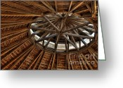 Round Barn Greeting Cards - Hexadecagonal Greeting Card by Fred Lassmann