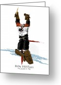 Philadelphia Greeting Cards - Hextall Scores Greeting Card by David E Wilkinson
