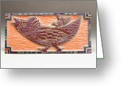 Woodcarving Reliefs Greeting Cards - Hi-oh Silver Away Greeting Card by James Neill