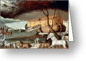 Noah Greeting Cards - Hicks: Noahs Ark, 1846 Greeting Card by Granger