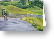 Marin Greeting Cards - Hicks Valley Bike Ride Greeting Card by Colleen Proppe