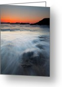 Dusk Greeting Cards - Hidden Beneath the Tides Greeting Card by Mike  Dawson