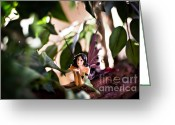 Angelina Cornidez Greeting Cards - Hidden fairy on a log Greeting Card by Angelina Cornidez