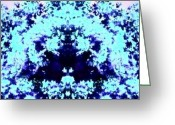 Droid Greeting Cards - Hidden Genie #blue #abstract #android Greeting Card by Marianne Dow