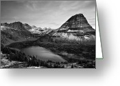 Glacier Greeting Cards - Hidden Lake Greeting Card by Jesse Estes