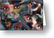 New Age Art Greeting Cards - Hidden Greeting Card by Patricia Motley