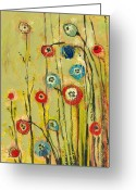 Poppy Greeting Cards - Hidden Poppies Greeting Card by Jennifer Lommers