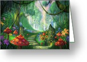 Enchanted Greeting Cards - Hidden Treasure version 2 Greeting Card by Philip Straub