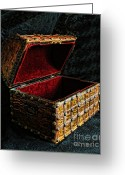Chest Greeting Cards - Hidden Treasures Greeting Card by Arnie Goldstein
