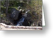 Waterfalls Greeting Cards - HIdden Waterfall Greeting Card by Heather Chaput