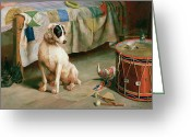 Drum Sticks Greeting Cards - Hide and Seek Greeting Card by Arthur Charles Dodd