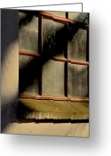 Window Panes Greeting Cards - Hiding From The Sun Greeting Card by Odd Jeppesen