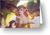 Fairies Art Greeting Cards - Hiding out 2 Greeting Card by Angelina Cornidez