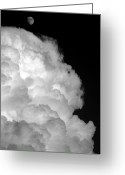 Above The Clouds Greeting Cards - High Above The Chimney Top Greeting Card by Ed Smith