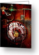 County Jail Greeting Cards - High Contrast Fan Greeting Card by Dana  Oliver