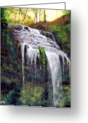 Landscapes Greeting Cards - High Falls Greeting Card by Kenneth McGarity
