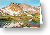 Colorado Mountains Greeting Cards - High in the Rockies Greeting Card by Mary Giacomini
