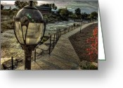 City Scapes Framed Prints Greeting Cards - High Lamp At The Falls Greeting Card by John Herzog