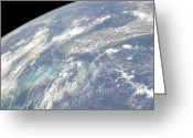 Oblique Greeting Cards - High Oblique Earth View Of The Florida Greeting Card by Stocktrek Images