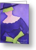 Long Gloves Greeting Cards - High Society Greeting Card by Teres Lillian