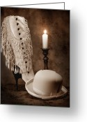 Sepia Greeting Cards - High Society Greeting Card by Tom Mc Nemar