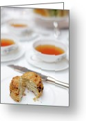 Cup Photo Greeting Cards - High Tea Greeting Card by Jowena Chua