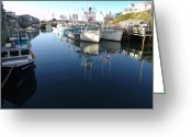 Cousins Greeting Cards - High Tide at Halls Harbour Greeting Card by George Cousins