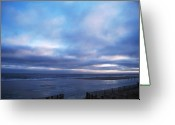 Clods Greeting Cards - High Tide at Twilight Cape May Greeting Card by Eric  Schiabor