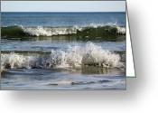 South Carolina Beach Greeting Cards - High Tide Coming Greeting Card by Suzanne Gaff