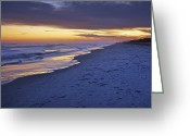 Digital Prints Greeting Cards - High Tide In Fading Light Greeting Card by Phill  Doherty
