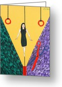 Merchandise Painting Greeting Cards - High Wire Greeting Card by Patrick J Murphy