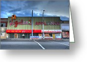Stereo Greeting Cards - Highland Appliance Superstore Greeting Card by Gordon Dean II