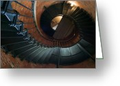Cape Cod Mass Photo Greeting Cards - Highland Lighthouse stairs Cape Cod Greeting Card by Matt Suess