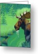 Forest Pastels Greeting Cards - Highlands Greeting Card by Tracy L Teeter