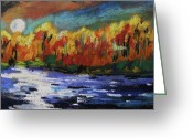 Autumn Landscape Pastels Greeting Cards - Highlights Greeting Card by John  Williams