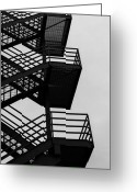 Blacks Greeting Cards - Highrise Escape Greeting Card by Steven Milner