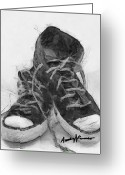 Converse Greeting Cards - HighTops Greeting Card by Anthony Caruso
