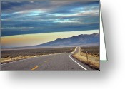Highway Greeting Cards - Highway 130 To Minersville Greeting Card by Utah-based Photographer Ryan Houston