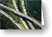 Munich Greeting Cards - Highway Bridge Greeting Card by Daniel Reiter