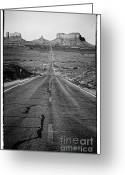 Black Mesa Greeting Cards - Highway Greeting Card by Hideaki Sakurai