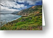 Menschenleer Greeting Cards - Highway Nr.1 - California Greeting Card by Andreas Freund